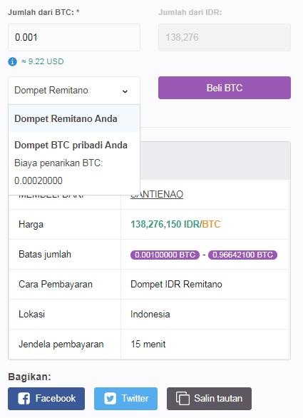 cara membeli bitcoin dengan rekening rupiah bank di Indonesia