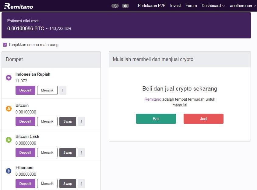 investasi bitcoin di remitano transaksi sukses