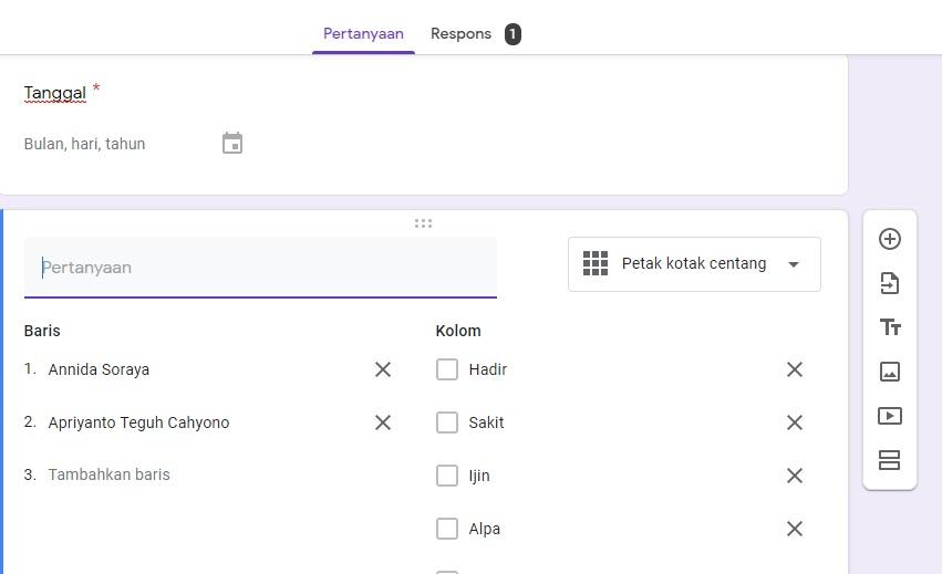 cara membuat absensi dengan google forms 10