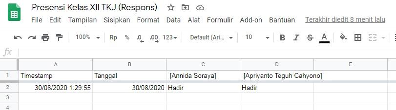 cara membuat absensi dengan google forms 13