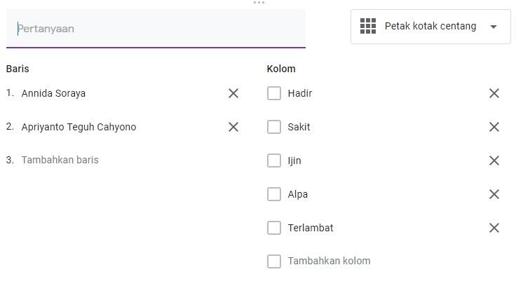 cara membuat absensi dengan google forms 4