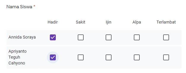 cara membuat absensi dengan google forms 5