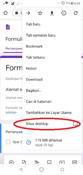Cara mengedit google forms di hp android