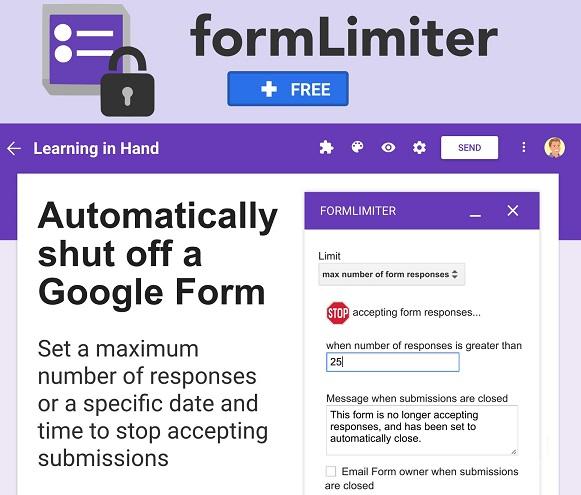 google form limiter