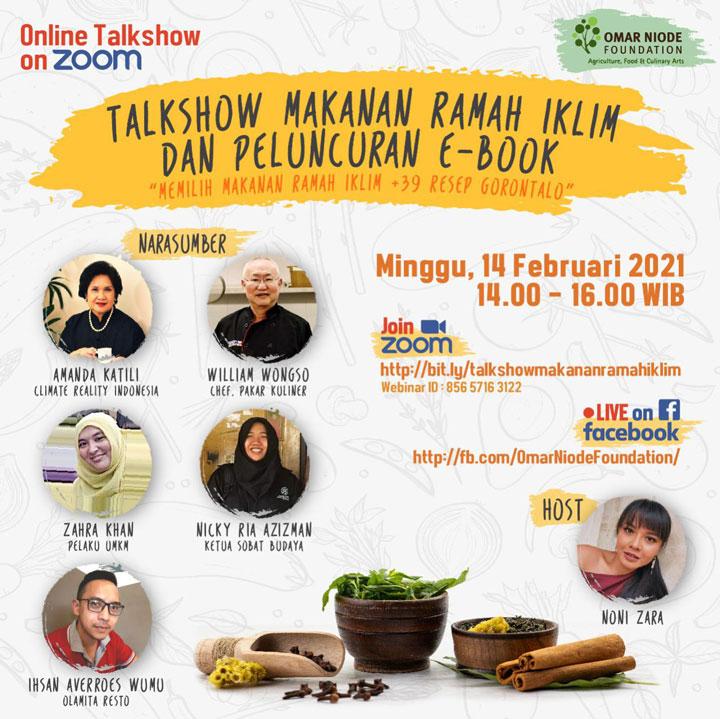 peluncuran buku makanan ramah iklim dan 39 resep kuliner gorontalo omar niode foundation