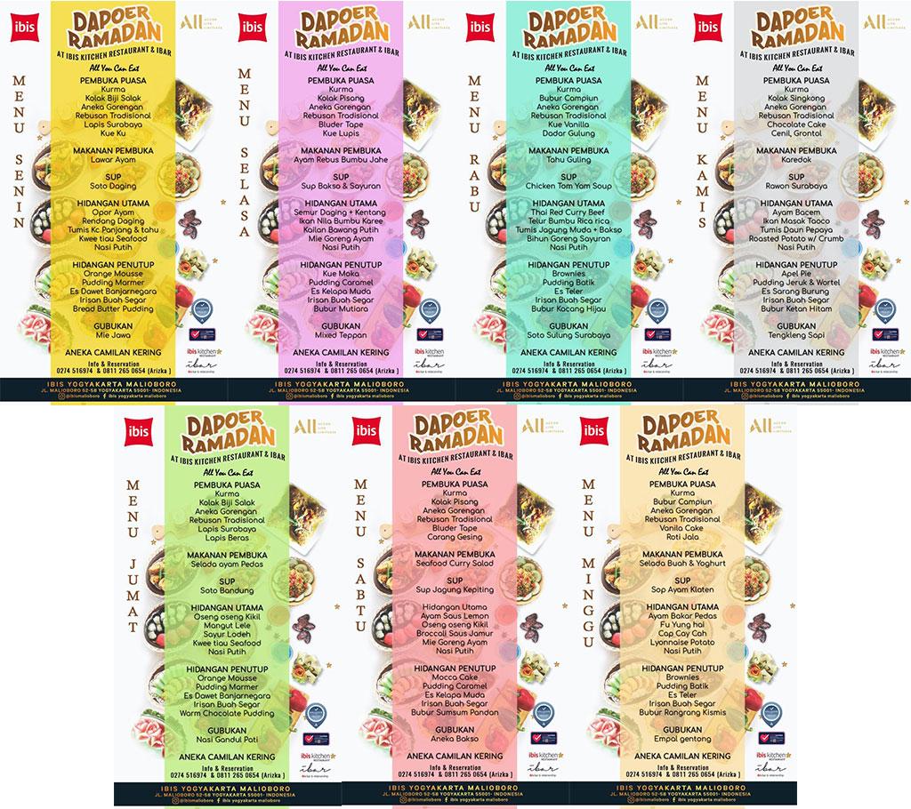 menu dapoer ramadhan ibis kitchen restauran malioboro