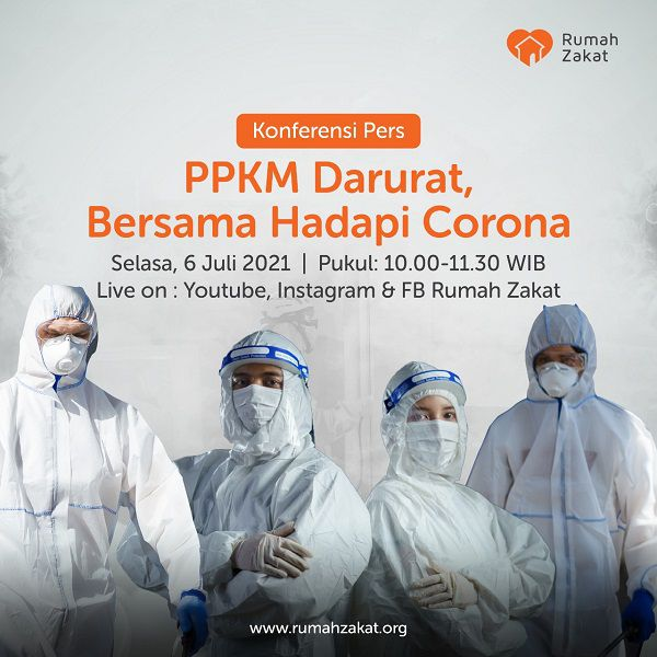 PPKM darurat bersama hadapi corona rumah zakat
